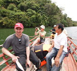 Boating at Balanan Lake in Dumaguete